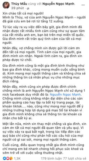 vo-nguoi-hung-nguyen-ngoc-manh-len-tieng-canh-bao-sau-khi-gui-loi-cam-on-tinh-cam-cua-moi-nguoi