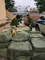 Bắt xe tải chở 1,3 tấn nội tạng lợn bốc mùi hôi thối nhập lậu từ Trung Quốc
