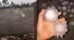 Clip mưa đá rơi ầm ầm như tiếng súng nổ, tạo hình giống virus