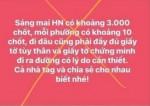 Hà Nội xử phạt một cá nhân tung tin có 3.000 chốt kiểm soát COVID-19