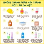 9 nguyên liệu sẵn có trong nhà nên ngừng bôi lên da