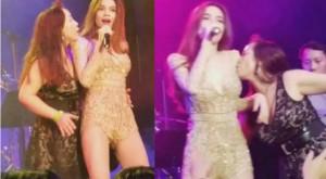 Hồ Ngọc Hà bị fan cuồng sàm sỡ, hôn ngực khi diễn ở quán bar