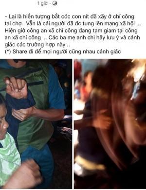 Một người nựng trẻ con, mạng đồn chóng mặt tin bắt cóc