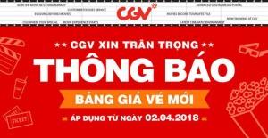 CGV bất ngờ tăng giá vé, mức tăng lên đến 50 ngàn đồng/vé khiến dân tình vừa hoang mang vừa bối rối