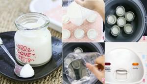 Cách làm sữa chua dẻo mát mịn và cực ngon bằng nồi cơm điện