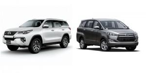 Ô tô 7 chỗ: Nên mua Toyota Innova hay Toyota Fortuner?