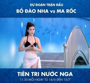 Nữ MC Việt diện bikini dẫn chương trình dự đoán World Cup