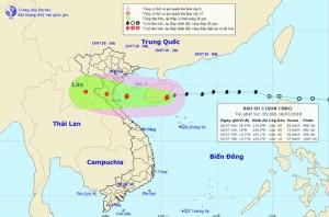 Bão số 3 tăng cấp, di chuyển với tốc độ chóng mặt vào bờ biển Thái Bình - Hà Tĩnh