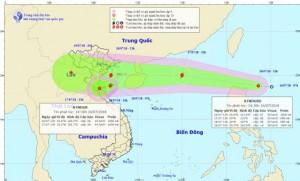 Hai áp thấp nối đuôi vào biển Đông, khả năng mạnh lên thành bão