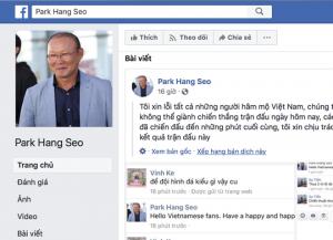 HLV Park Hang-seo bị lăng mạ, cư dân mạng phẫn nộ