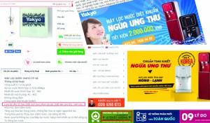 Người tiêu dùng hoang mang khi máy lọc nước Yakyo quảng cáo có thể ngừa ung thư