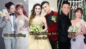 Bật mí tiền mừng trong những đám cưới tiền tỷ của sao Việt