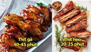 Thời gian chuẩn nhất để nấu các món thịt ngon