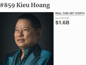Vì sao tỷ phú gốc Việt Hoàng Kiều không có mặt trong top 400 người giàu nhất nước Mỹ