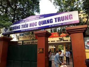 Hà Nội: Giáo viên phạt học sinh 20 cái tát, trường Tiểu học Quang Trung nói gì?