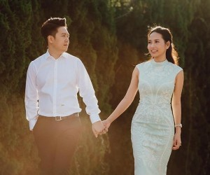 Vợ doanh nhân 9X đẹp như hoa hậu của ca sĩ Lê Hiếu