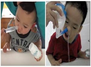 Rửa mũi cho trẻ bằng xi lanh hay bình rửa đều nguy hiểm mẹ nên bỏ ngay
