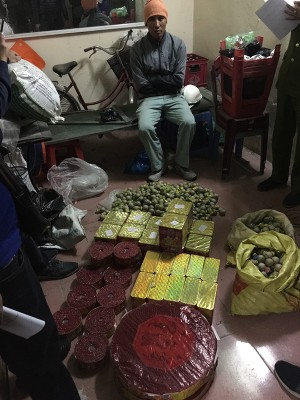 Uông Bí: Cận tết, bắt giữ đối tượng tàng trữ trái phép gần 70Kg pháo nổ