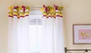 Khéo tay làm rèm cửa vừa đẹp, vừa dễ tháo lắp