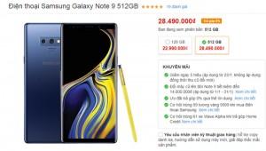 Sốc: Galaxy Note 9, Galaxy S9+ đang giảm 05 triệu đồng