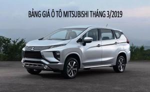 Bảng giá xe Mitsubishi tháng 03/2019: Giữ mức giá ổn định