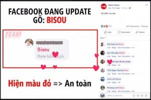 Thực hư việc gõ Bisou để kiểm tra tài khoản Facebook đang an toàn hay không?