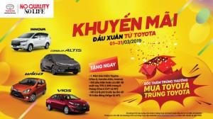 Toyota VN khuyến mãi đầu xuân cho khách hàng mua ô tô trong tháng 3.2019
