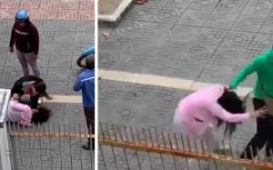 Phẫn nộ vợ bầu bị chồng đánh dã man giữa phố trước mặt con nhỏ