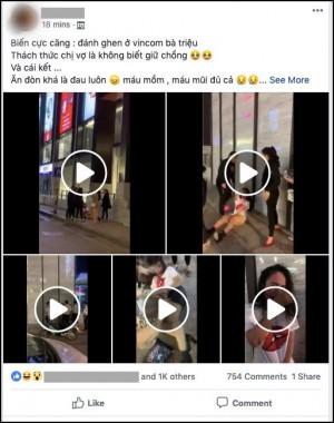 Xôn xao clip cô gái trẻ bị nhiều phụ nữ lột váy, tát tới tấp vào mặt