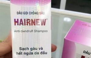 Sendo, Lazada, Shopee... bán dầu gội chống gàu HairNew chứa chất cấm cho người tiêu dùng