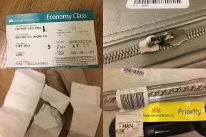 Khách hàng Vietnam Airlines tố bị bẻ khóa hành lý, đồ đạc xáo trộn