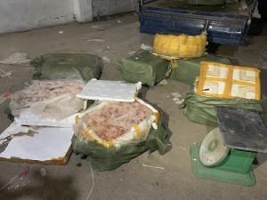 Nầm lợn đã bốc mùi hôi thối nhập lậu từ Trung Quốc về Việt Nam 'lòe' người tiêu dùng