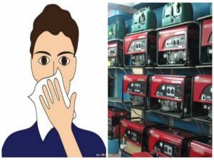 Khí xả từ máy phát điện có thể gây chết ngạt, nên đặt vị trí nào cho an toàn