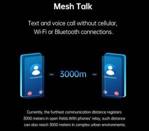 Không cần Wi-Fi, 3G hay bluetooth, người dùng vẫn có thể gọi thoại cho nhau trong 3km