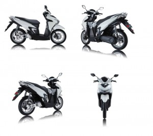 NÓNG: Xuất hiện xe ga điện giống hệt Honda Vario 125/150