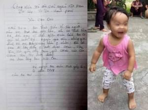 Người mẹ trẻ đem con bỏ ở chùa kèm lá thư