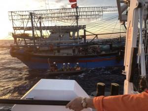 Hải phòng huy động tàu giã cào tìm kiếm 9 nạn nhân mất tích trogn vụ đắm tàu trên biển Bạch Long Vĩ