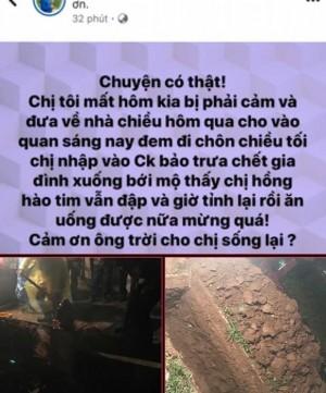 Thực hư chuyện người chết đột nhiên sống dậy về 'ăn cơm' cùng gia đình ở Bắc Giang