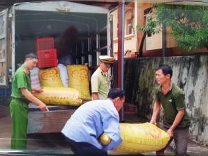 Tiêu hủy lượng lớn quả trám trắng nhập lậu từ Trung Quốc về Việt Nam bán