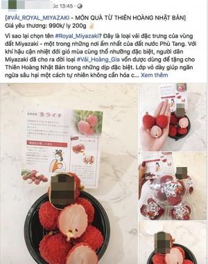 Vải thiều Nhật Bản 1 triệu/6 quả vẫn đắt hàng ở Việt Nam