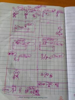 Cậu bé 8 tuổi vẽ tường tận cảnh