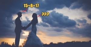 Chú rể trả lời 15 + 6 = 17, cô dâu làm điều ai cũng ngạc nhiên
