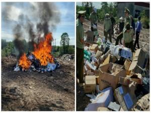Hơn 15.000 sản phẩm hàng hóa vi phạm về nhãn mác, nguồn gốc bị tiêu hủy