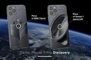 NÓNG: iPhone 11 Pro đính mảnh vỡ tàu vũ trụ và tàu Titanic, giá gần tỷ đồng