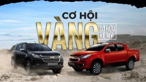 Loạt xe ô tô Chevrolet giảm giá mạnh 100 triệu đồng/chiếc tại Việt Nam