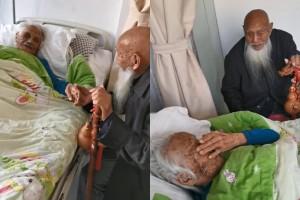 Cảm động anh trai 104 tuổi tới thăm em gái 97 tuổi lần cuối