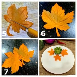 Học ngay cách cắt tỉa cà rốt thành lá phong trang trí đĩa ăn thật đẹp và lãng mạn