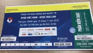 Phát hiện gần 1000 vé trận Việt Nam - Thái Lan làm giả trước giờ thi đấu