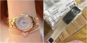 Đặt đồng hồ sang chảnh, nhận về đồng hồ nhựa, cô gái lên mạng than liền bị mắng
