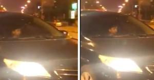 Phụ huynh thản nhiên cho bé trai chừng 7 tuổi lái xe ô tô chạy trên đường lớn khiến dân mạng bức xúc